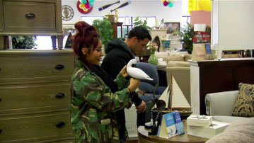 Nicole and Jionni shopping at Michael's Furniture!